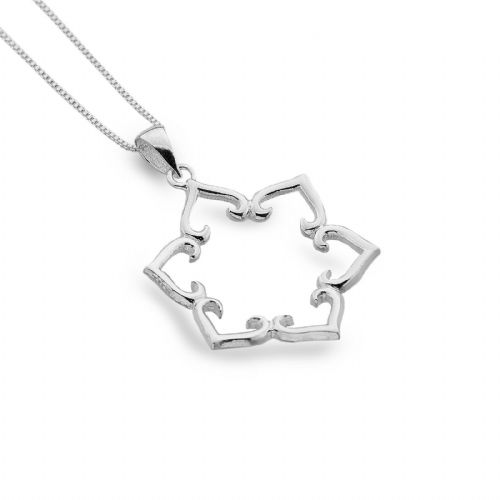 Lotus Petal Flower Pendant Sterling Silver 925 Hallmark All Chain Lengths